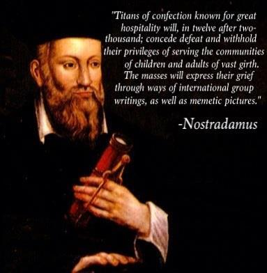 Nostradamus Predicts Hostess Bankruptcy