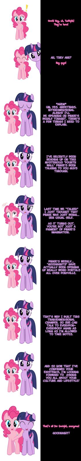 Pinkie and Twilight say Goodnight!