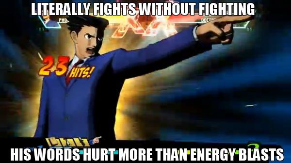 Words can literally hurt you according to Phoenix Wright