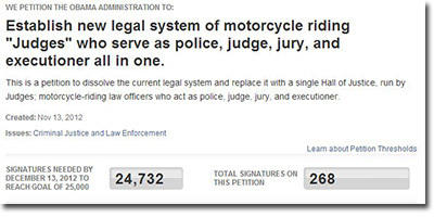 Judges on Motorcycles
