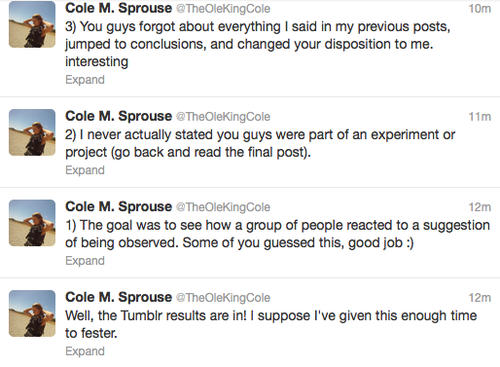 Cole M. Sprouse Tweets