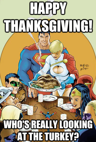 who's really looking at the turkey?