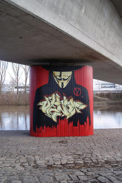 Anonymous Street Art by OpGraffiti