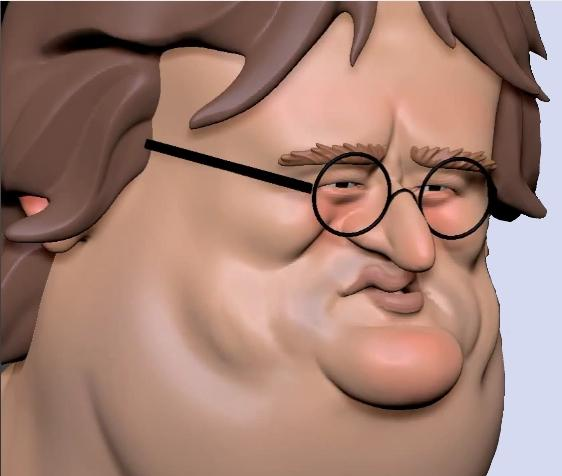 3D Gabe Newell Image
