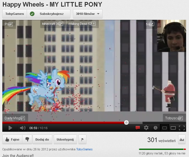 "When a YouTuber with over 2 kk subs says word ""pony"" in a video, shitstorm cannot be avoided..."