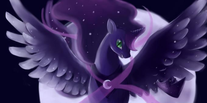 Luna transforming into Nightmare Moon