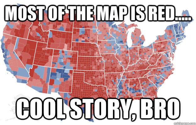 Cool Electoral Map Bro