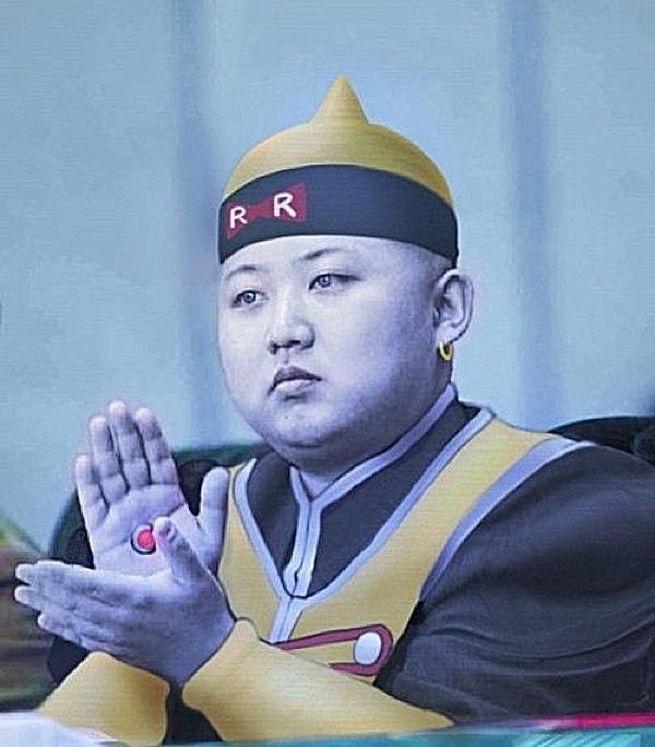 Kim Jung Un as Android 19 (Dragon Ball Z)