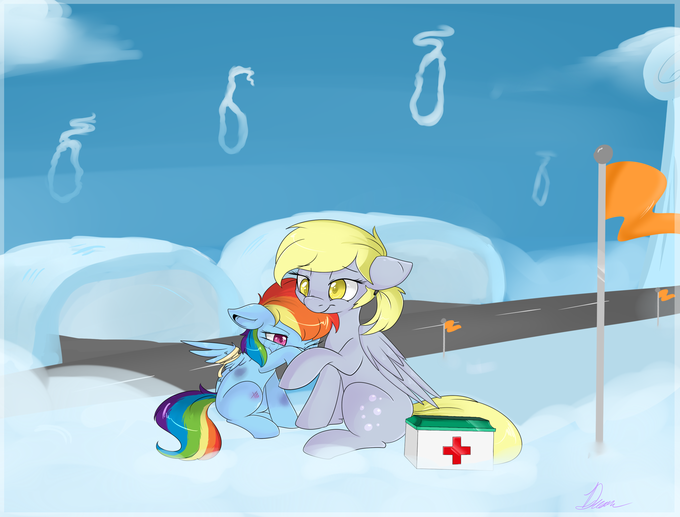 Filly Dash and Derpy