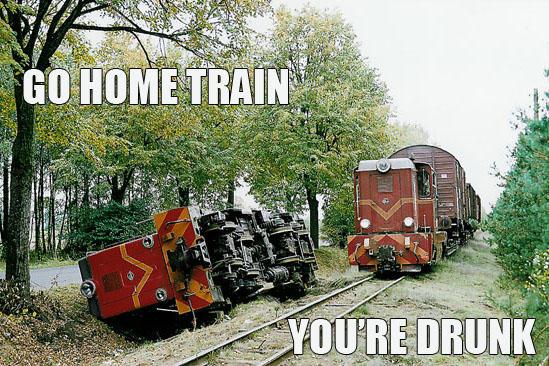 Drunk train