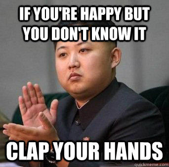 "This is Kim Jong Un's ""Happy"" Face"