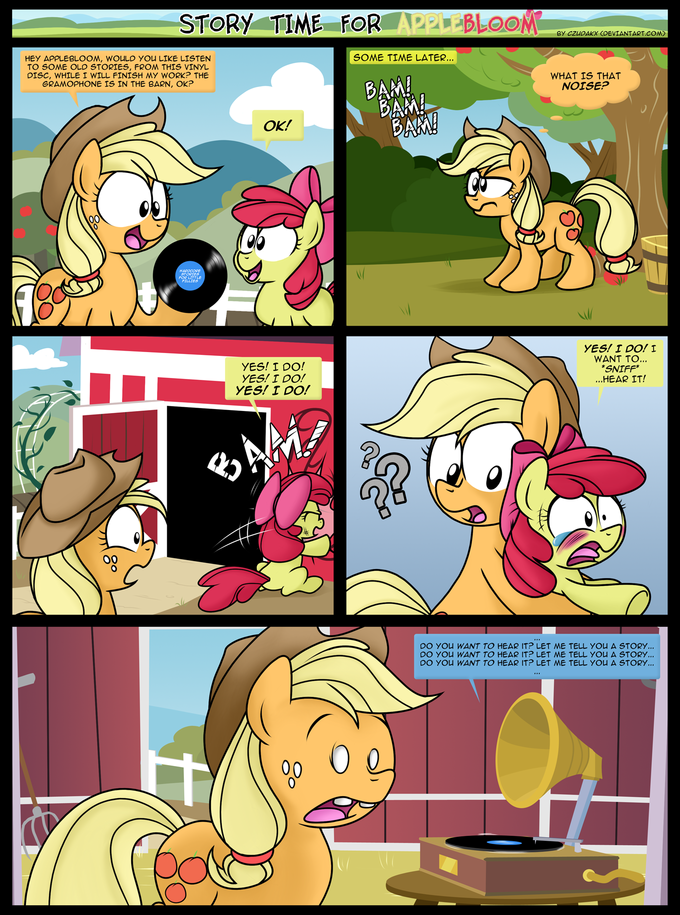 Story time for Applebloom