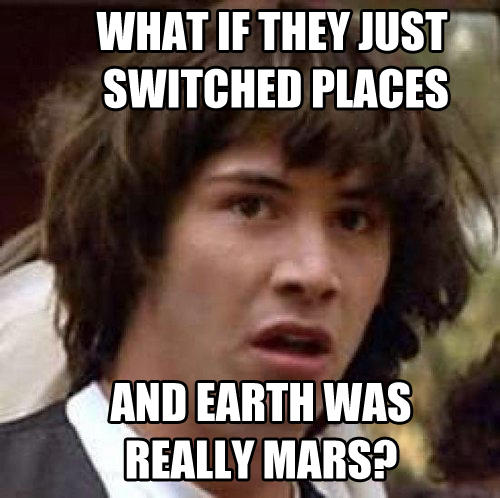 Conspiracy Keanu Earth Was Mars