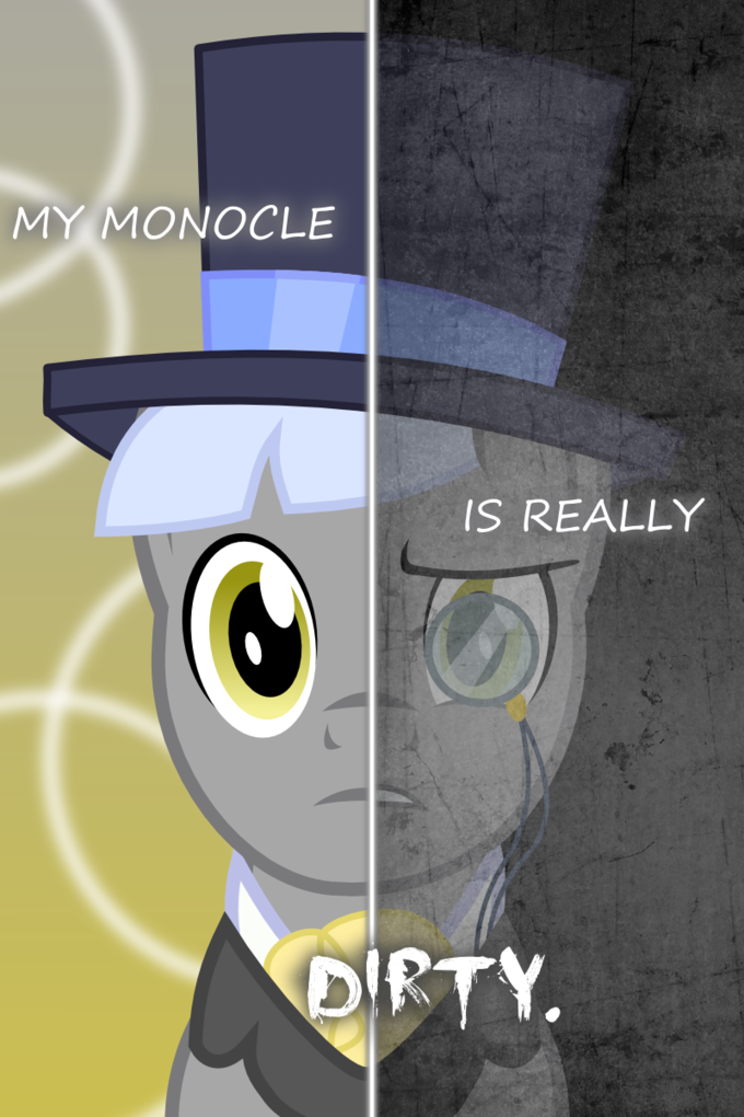 Two-sided pony poster spoof