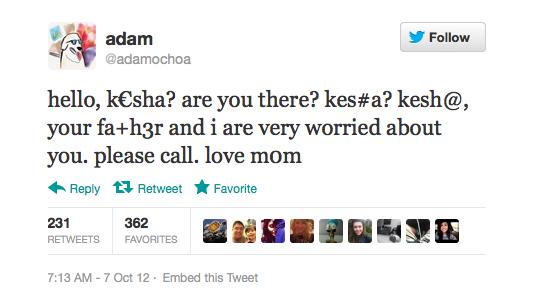 weird twitter tweet