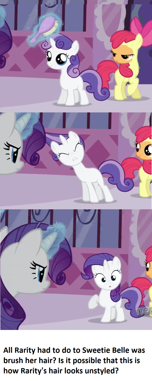 Rarity's hair