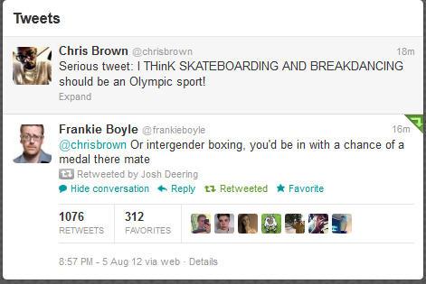Frankie Boyle replies to Chris Brown's Twitter