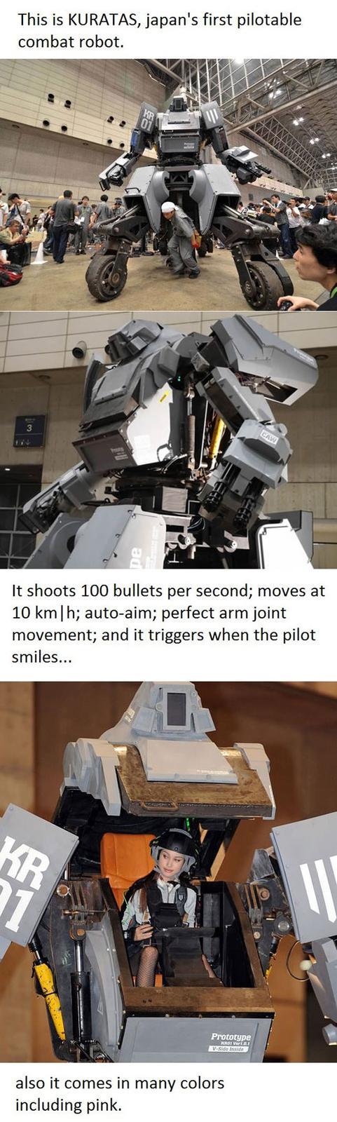 KURATAS, Japan's First Combat Robot