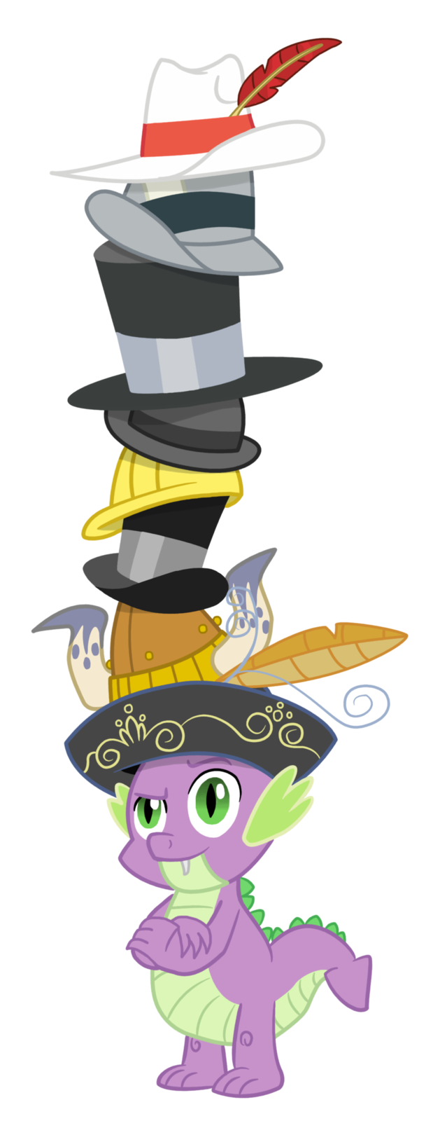 Spike's Towering Pillar of Hats