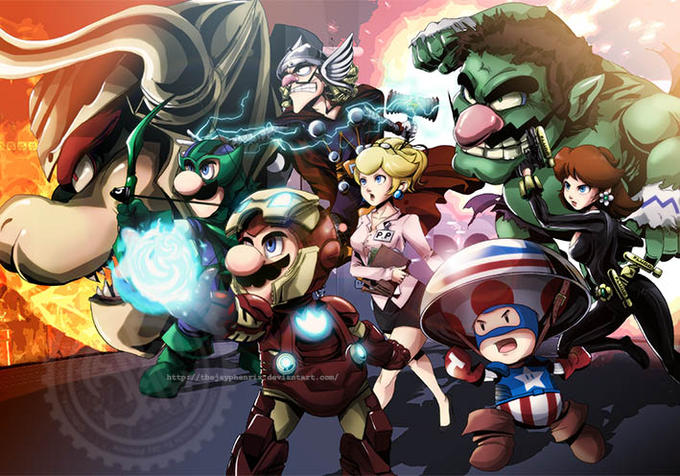 Avengers - Super Mario style
