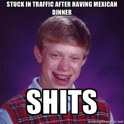 Bad Luck Brian has a Mexican dinner