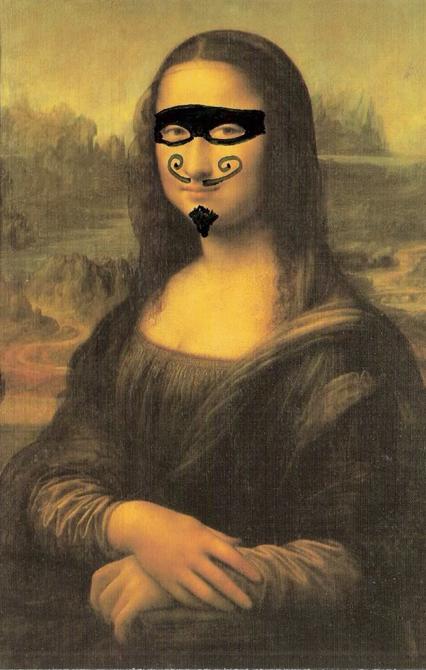 moustached mona again