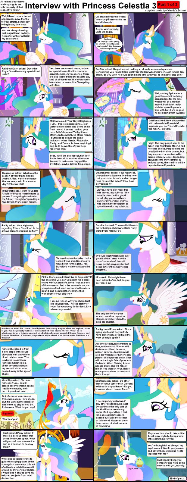 Interview with princess Celestia 3
