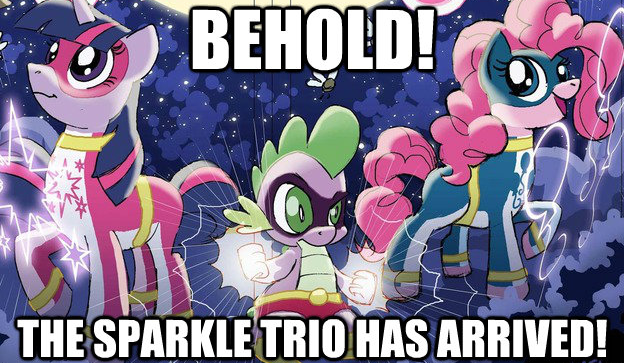 behold! the sparkle trio has arrived!