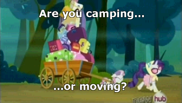 Are you camping or moving?