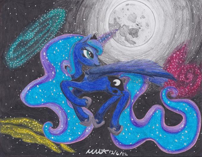 Flying in moonlight
