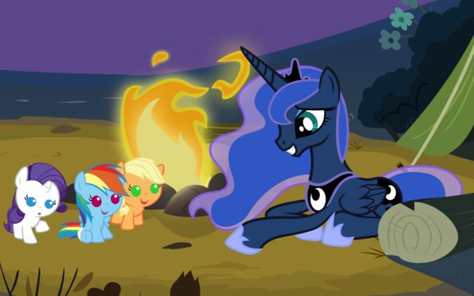 Look At Da Pwetty Blue Ponny!