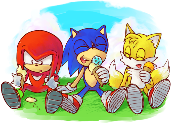 Ice cream time for Team Sonic