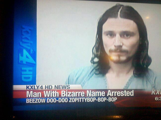 Man with Bizarre Last Name Arrested