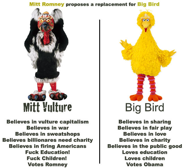 Mitt Vulture vs. Big Bird! 