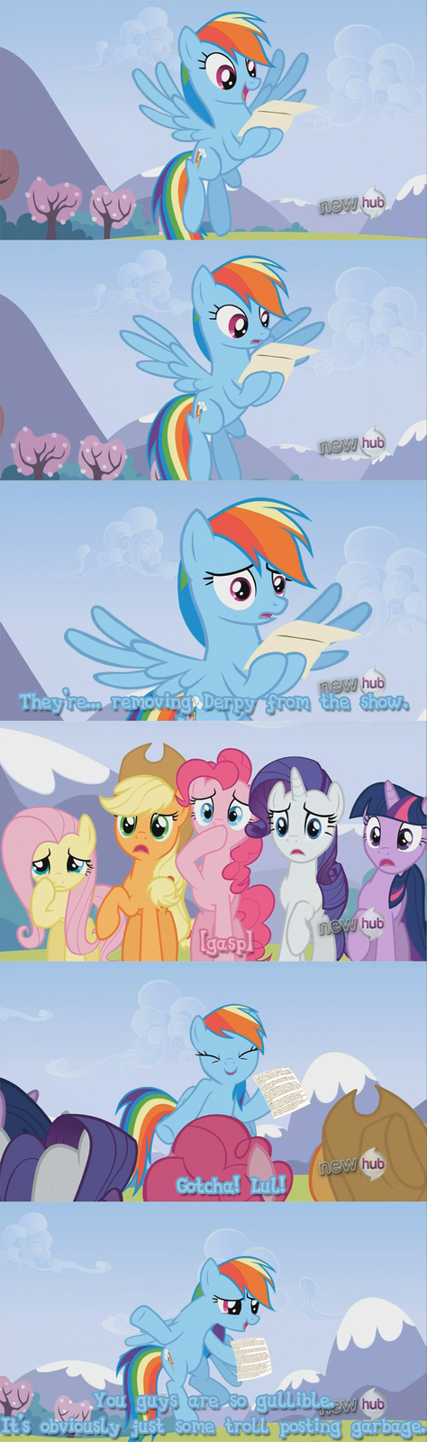 Don't Ever Joke Like That Again Rainbow Dash