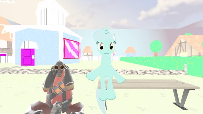 Sitting Lyra meets Sitting Pyro