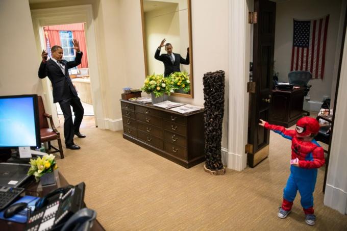 Spidey stops Obama