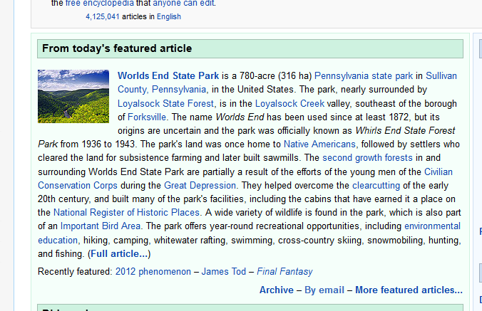 Wikipedia's 12/21/12 Featured Article