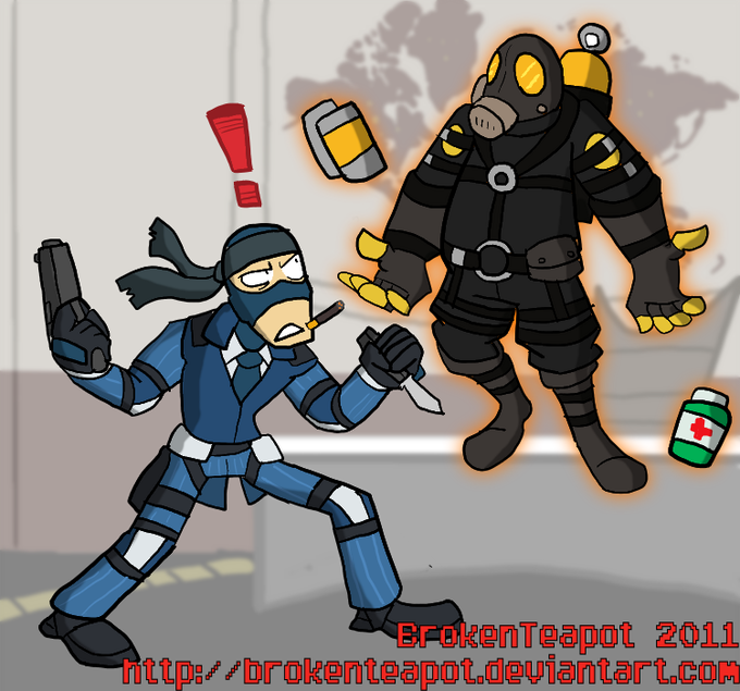 Solid Spy and Pyro Mantis
