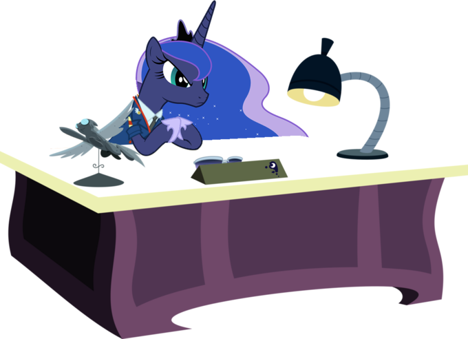 Princess Luna At Her Desk
