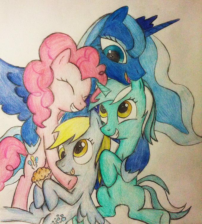 My Favorite Ponies: Group Hug