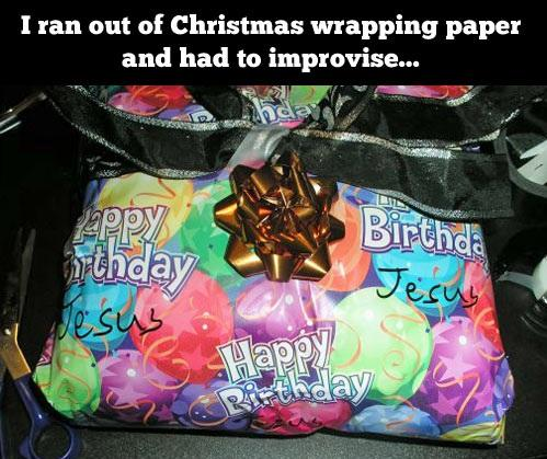 Improvising Christmas Wrapping Paper