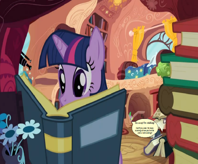 Behind you Twilight!