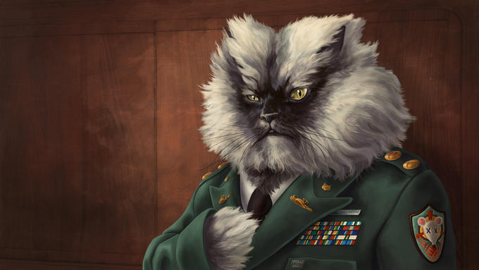 Colonel Meow Wallpaper by Chronoperates