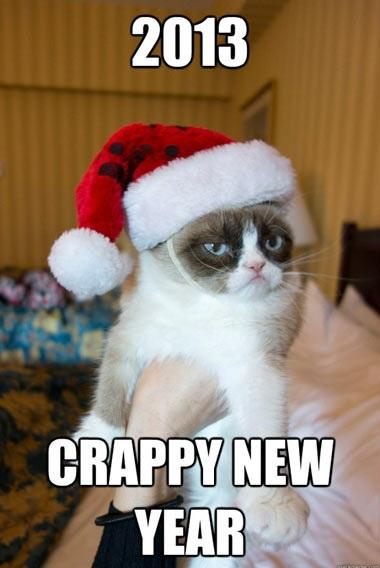 Grumpy Cat's New Year Wishes