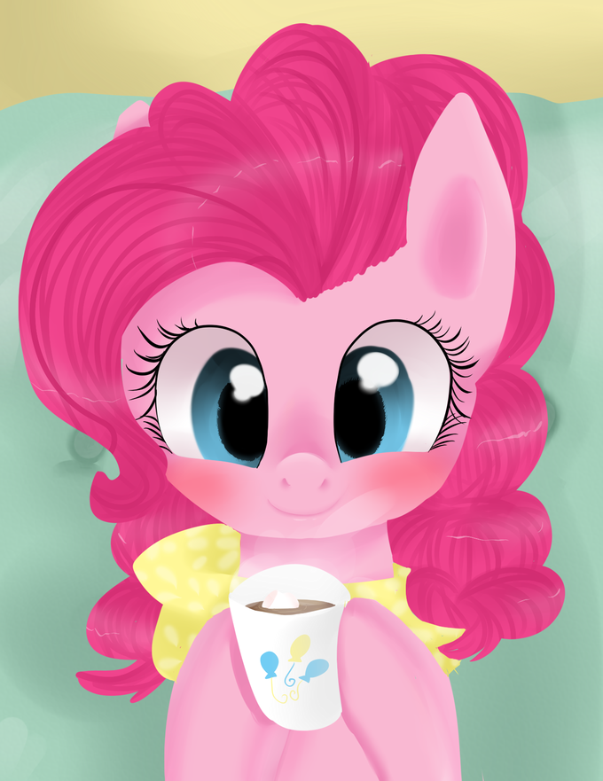 Pinkie at home