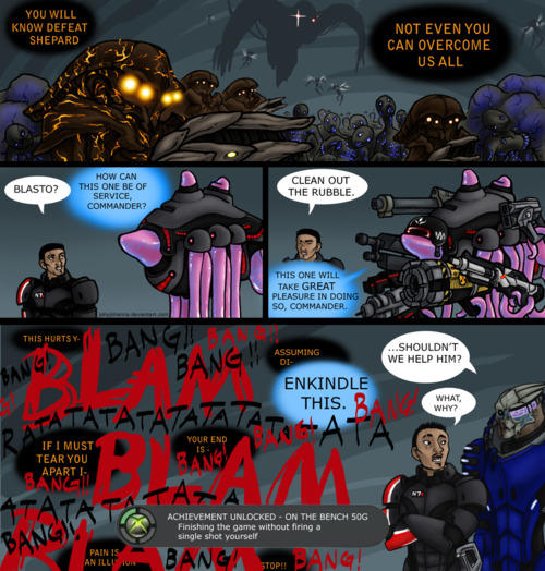 Shepard allows Blasto to do his work