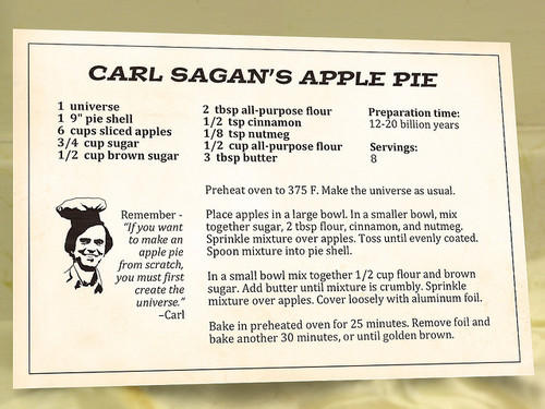 Carl Sagan's Apple Pie Recipe