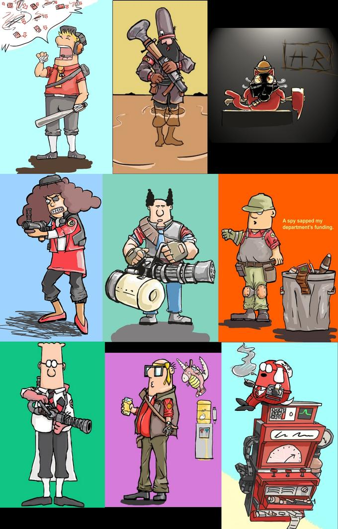 Dilbert with Team Fortress 2