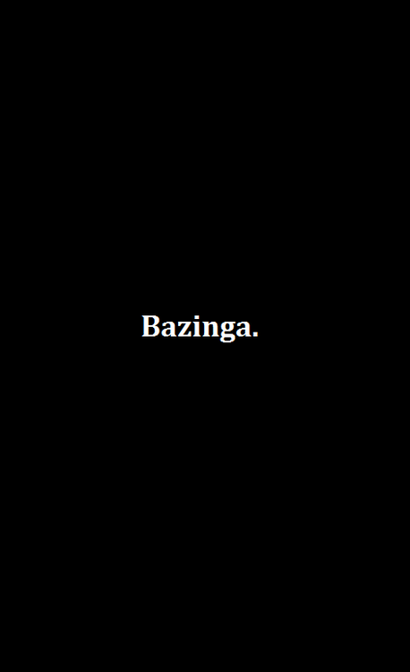 Minimalist Bazinga Meme Poster